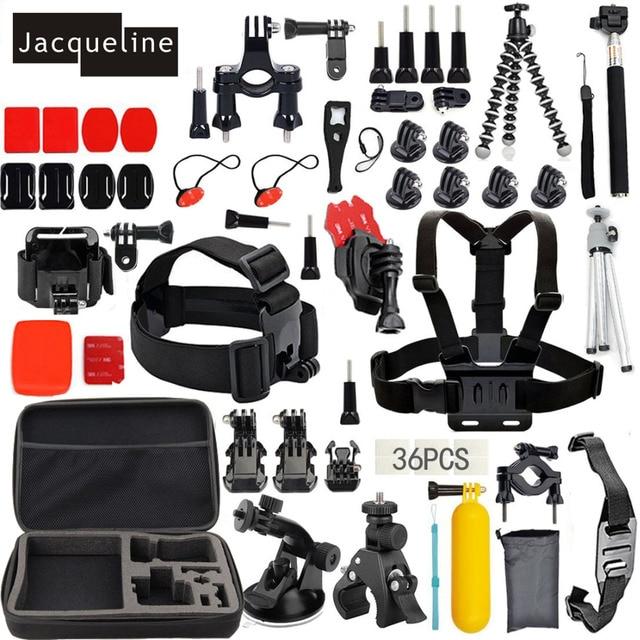 Jacqueline for Outdoor Sports Accessories Kit for Gopro HERO 5 3+ 4 Session SJ5000 SJ6000 for SJCAM for Eken H9R H9 Action