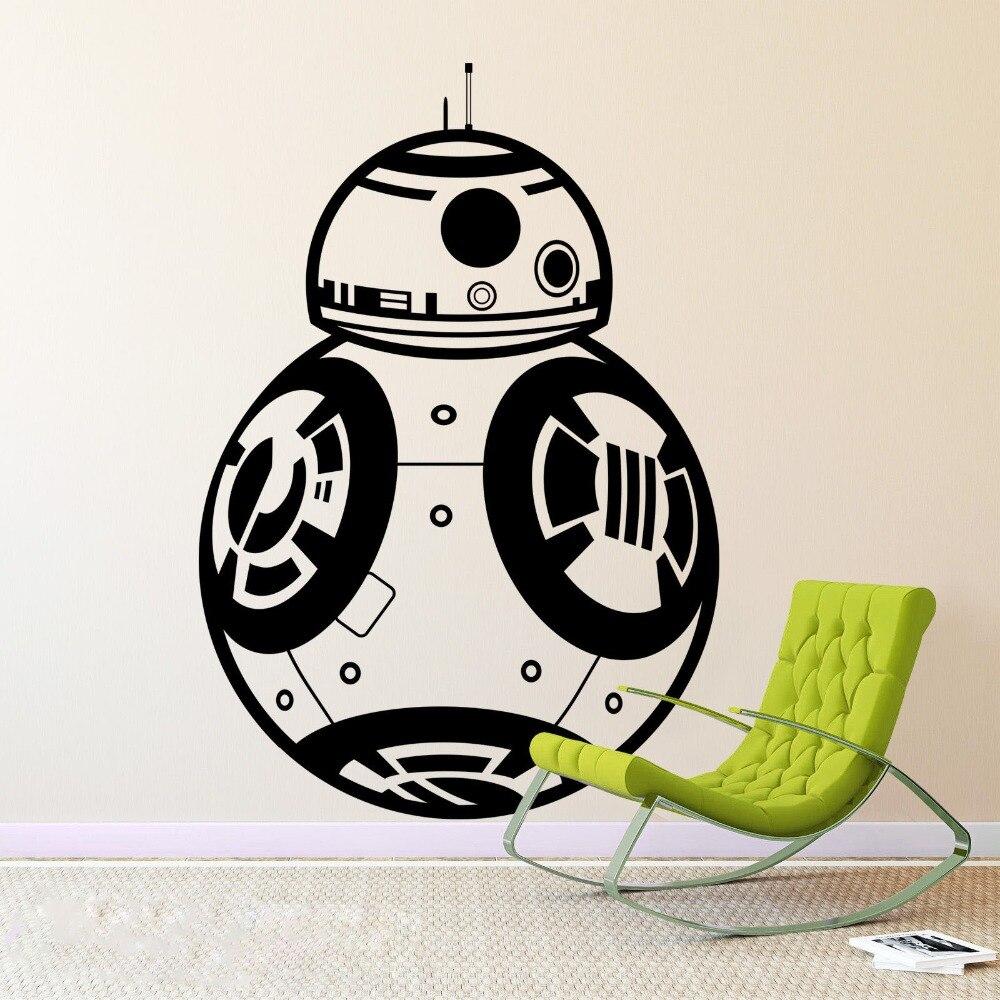 Kreative aufkleber stern wars bb8 droid robot wandaufkleber home decor jungen schlafzimmer aufkleber vinyl wandtattoo kunst wand dekoration in kreative
