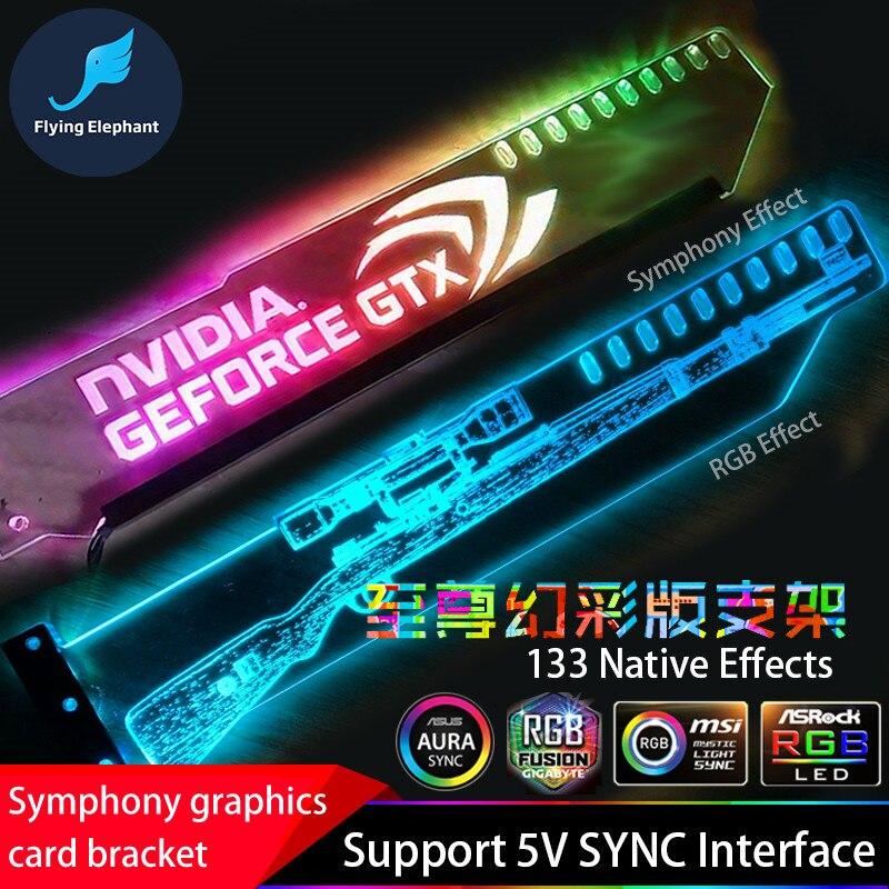 Tarjeta de gráficos apoyo marco colorido RGB/Aurora LED VGA tarjeta titular chasis creencia lámpara jack luz contaminación ASUS AURA