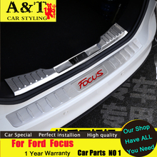 car styling For Ford Focus Rearguard 2012-2015 For Ford Focus Rear fender trunk trim strip bars Rear Racks A&T car styling