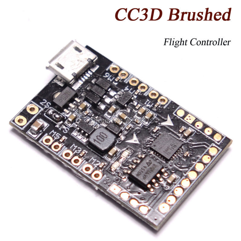 CC3D BRUSH Brushed Flight Controller Board PWM PPMB SBUS for 90 120 125 Coreless Tiny Indoor Quadcopter Racing Drone connex asd 120 brushed