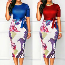 Plus Size Ladies Long Sleeve Summer Floral Boho Dress Women Party Bodycon Maxi Dress Formal Sheath Pencil Dresses Beach Clothing все цены