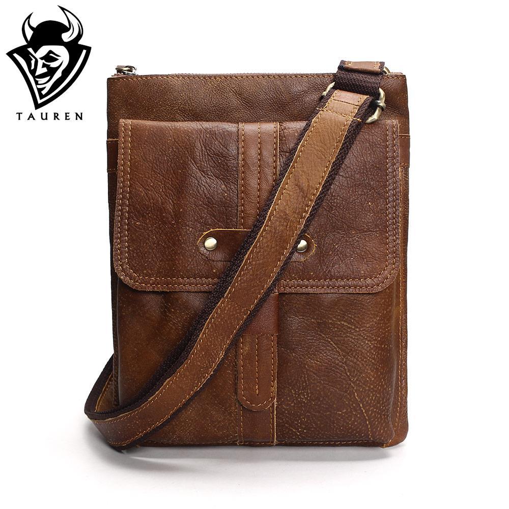 New Arrivals Genuine Leather Bag Men Bags Men Messenger Bags Male Small Flap Vintage Leather Shoulder Crossbody Bags For Man