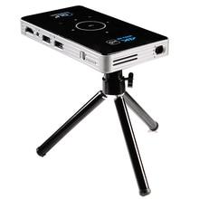 C6 Mini 4K DLP أندرويد 9.0 العارض 2.4G 5.8G واي فاي بلوتوث المحمولة LED عارض فيديو السينما المنزلية دعم Miracast Airplay