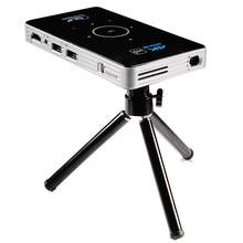 Mini projecteur Portable C6 4K DLP, Android 9.0, 2.4G, 5.8G, Wifi, Bluetooth, pour Home cinéma, Miracast, Airplay