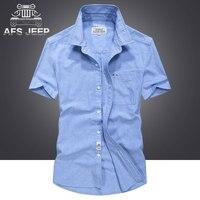Original Brand AFS JEEP Men Jean Shirts 2017 Summer Pure Cotton 100 Sweat Short Sleeve Military