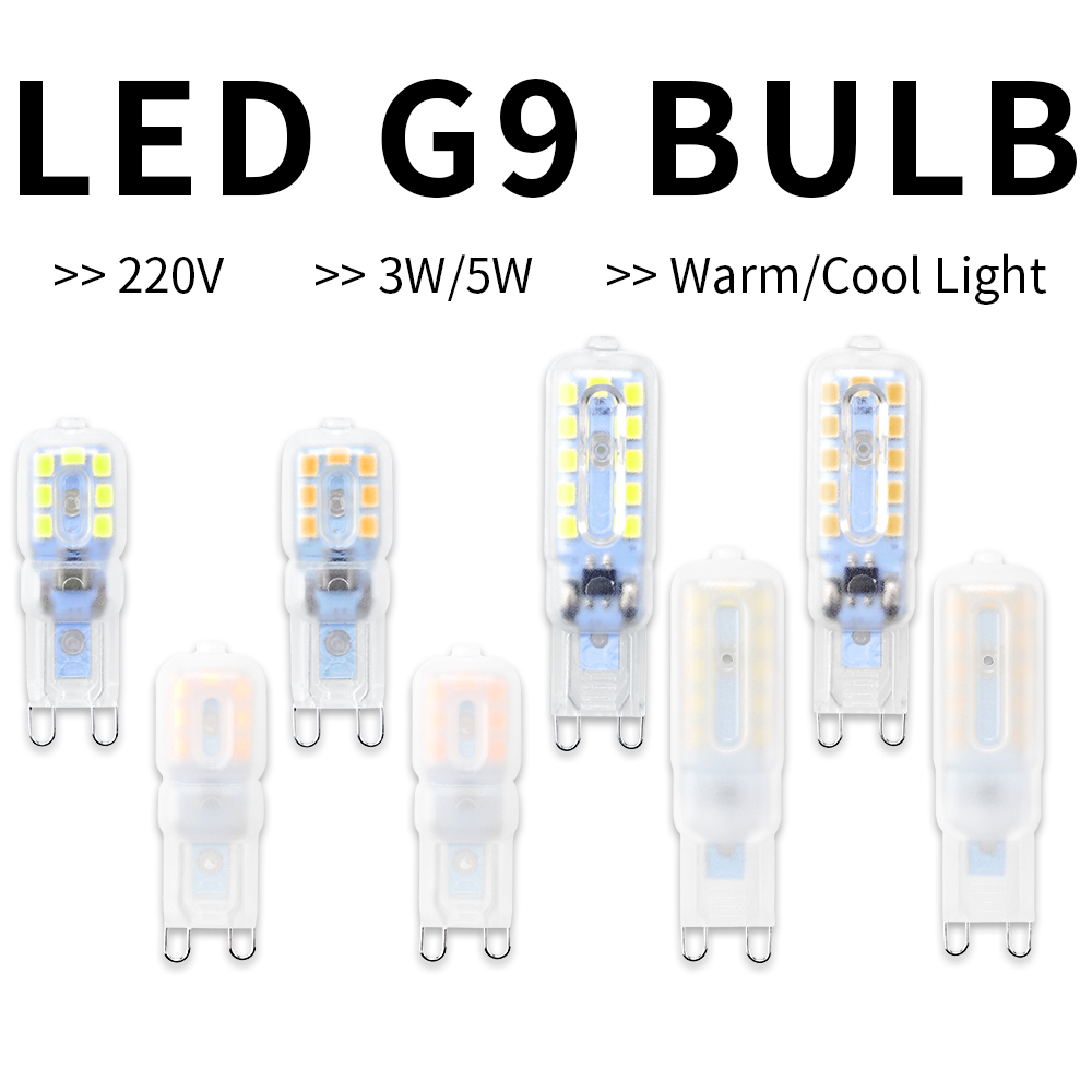 G9 LED Lamp Corn Bulb 3W 5W Mini G9 LED Light SMD 2835 Spotlight Chandelier AC 220V Energy Saivng Lighting Replace Halogen Lamps