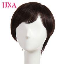 Уна человеческие волосы парики для женщин не Реми 150% плотность