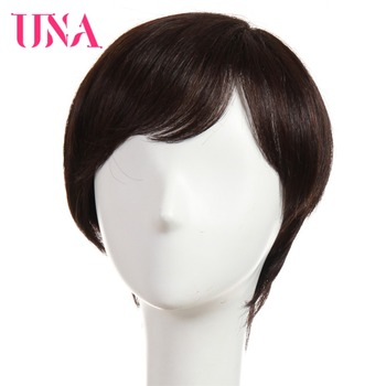 UNA Human Hair Wigs For Women Non-Remy Human Hair 150% Density Peruvian Straight Human Hair Wigs Machine Hair Wigs 6 11 Colors una malaysia human hair wigs for women wavy machine wigs non remy human hair wigs 7a middle ratio 10 120