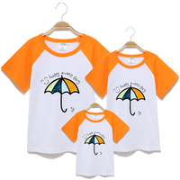 2016 New Family T Shirts Summer Cartoon Car Family Matching Outfits Clothes Mother Daughter And Father