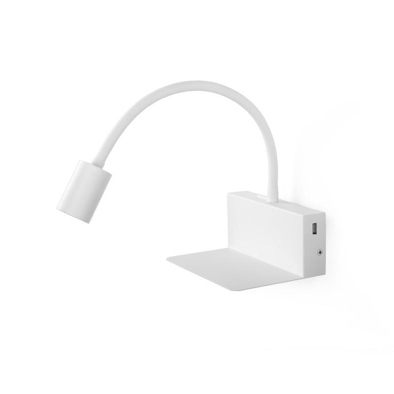 usb led lampada de leitura 4w aluminio luz de spot parede com braco flexivel luz parede