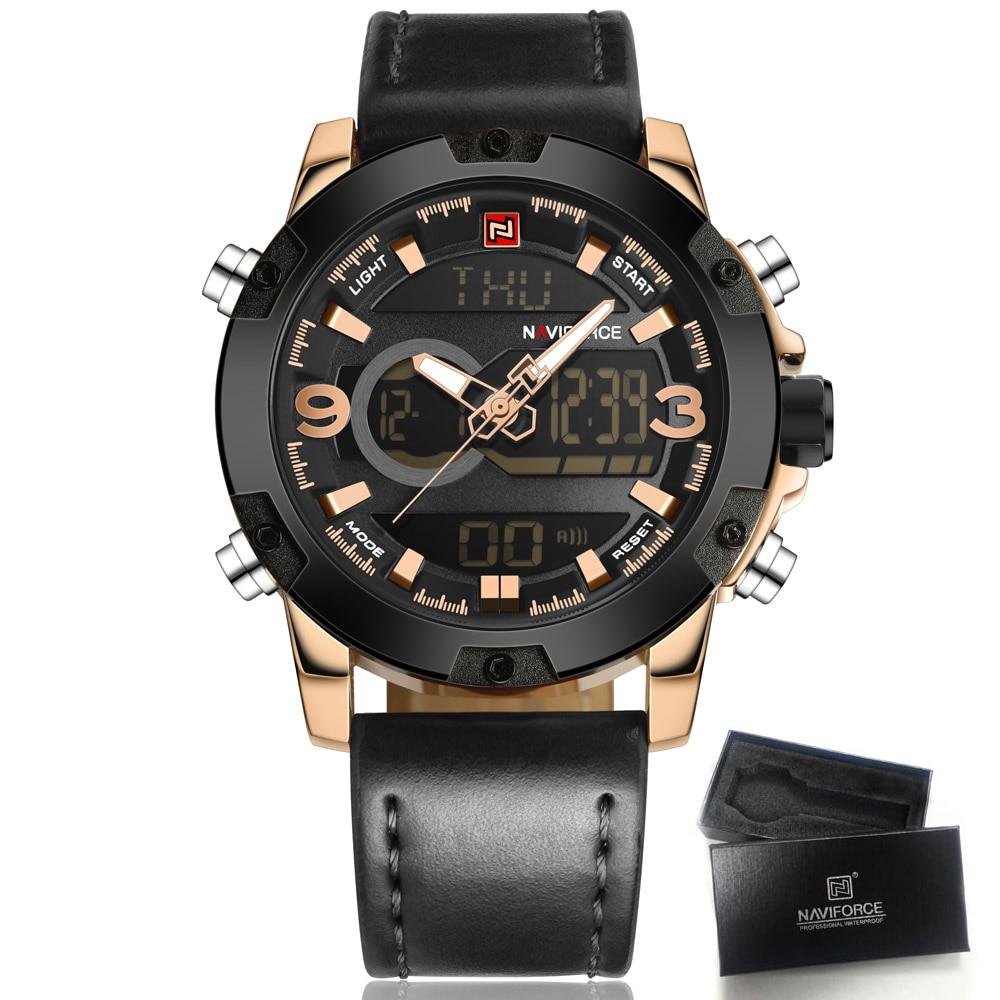 Watches Men NAVIFORCE Brand Men Sport Watches Men's Quartz Clock Man Casual Military Waterproof Wrist Watch relogio masculino цена