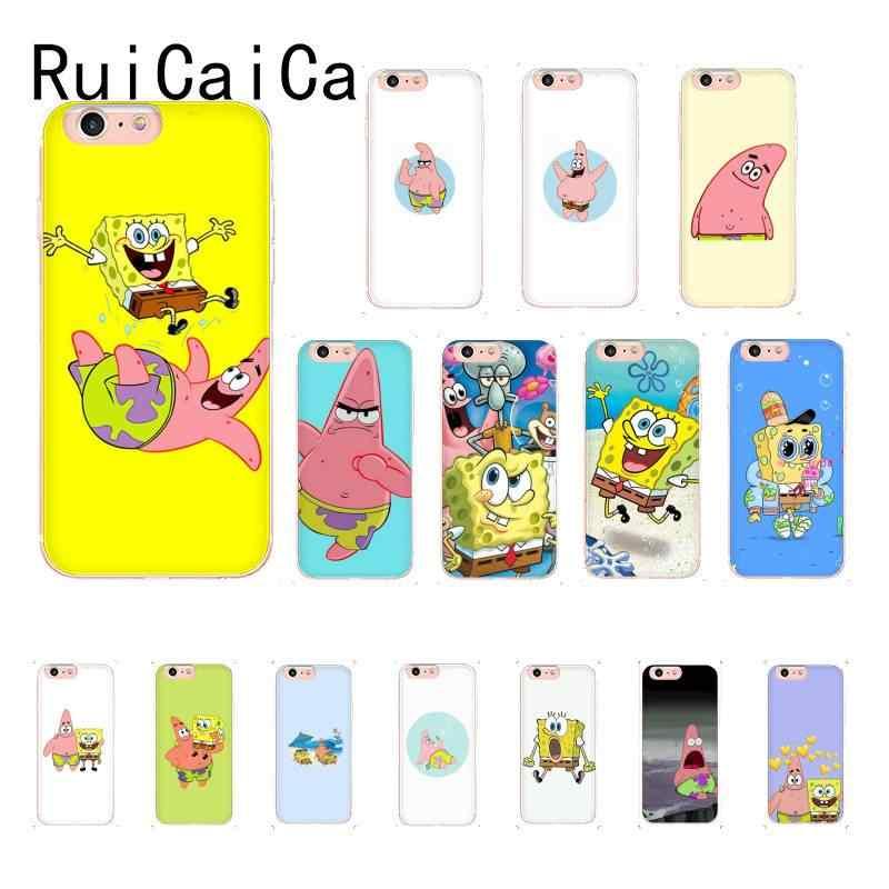 RuiCaiCa SpongeBob SquarePants Sponge Bob Cliente di Alta Cassa Del Telefono Per il iPhone 8 7 6 6S Plus X XSMAX 5 5S SE XR 11 11pro 11promax