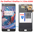 Black For OnePlus 3 OnePlus 1+ 3 One A3000 LCD Display Touch Screen Digitizer Full Assembly Replacement Parts Free Shipping