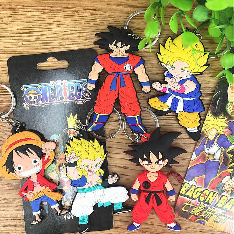 IVYYE 1 pcs 7 cm Dragon Ball Figura Anime One Piece Ação PVC Modelo Coleção Figuras Bonitos Dos Desenhos Animados Brinquedos Chaveiro presentes Unisex