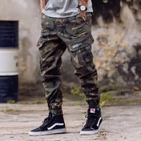 European American Fashion Streetwear Mens Jeans Jogger Pants Youth Fashion Summer Ankle Banded Pants Brand Boot