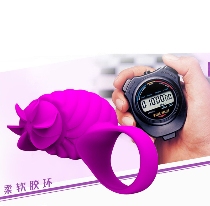 New USB Rechargeable Rotation Vibrating Cock Ring Sex Toys For Men 3 Mode Clit Stimulate Penis Rings for Couples Erotic Toys 4
