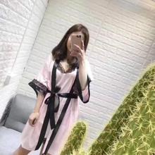 Европейский Highend леди новинка, оптовая продажа пикантные рукава халата шелковой ночной рубашке пижамы Стразы домашнего интерьера из двух частей