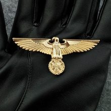 Germany Medal World War II Golden German Eagle Military Brooches With Safety-Pin Army Badge Souvenir Medal Support Drop Shipping(China)