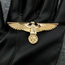 Niemcy Medal II wojna światowa złoty orzeł niemiecki broszki wojskowe z agrafką odznaka armii pamiątkowy Medal wsparcie Drop Shipping tanie tanio TARTADECO Europa cross Metal 2 9*7cm about 9 2g