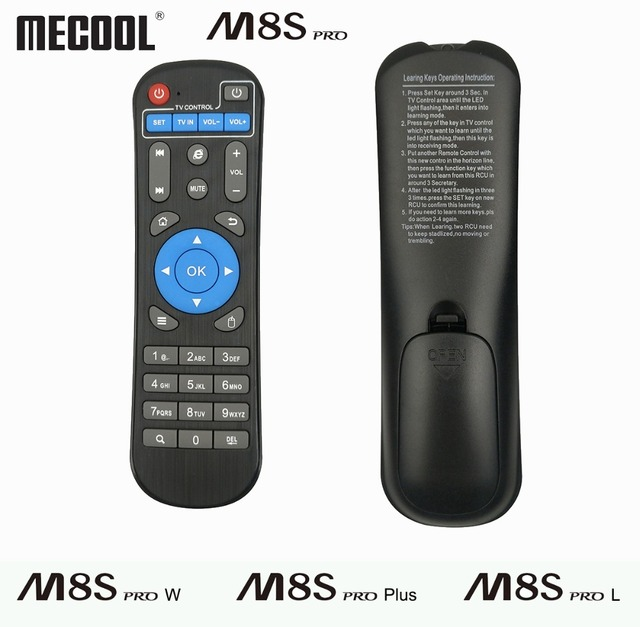 US $6 99 |IR Remote Control Replacement For Mecool Android TV Box M8S Pro W  M8S Pro L M8S Pro Plus BB2 KM8 Remote Controller Accessories-in Remote