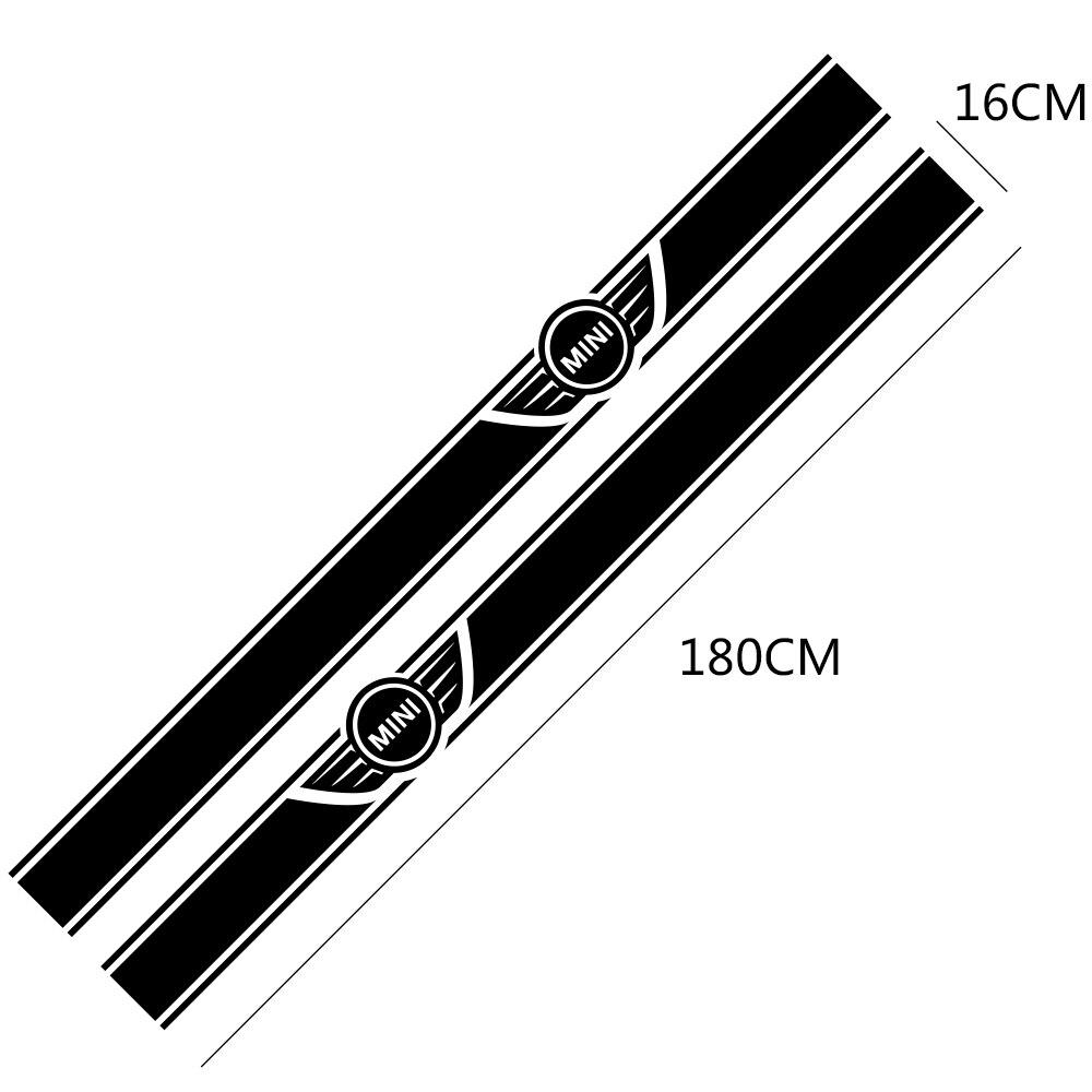 2 шт. автомобиль длинные штаны с полосками, Стикеры для Mini Cooper R56 R57 R58 R50 R52 R53 R59 R61 Countryman R60 F60 F55 F56 F54 аксессуары «сделай сам»