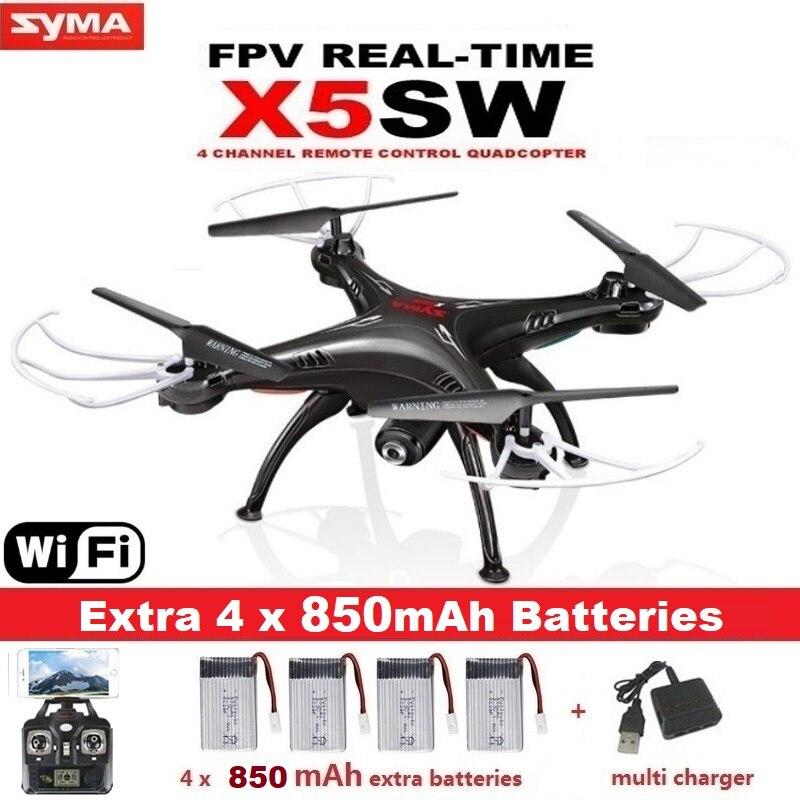 SYMA X5SW FPV RC Дрон, 2.4G 6-осевой квадрокоптер, с камерой 2 Мп, Wi-Fi, съемка в реальном времени, дистанционное управление, вертолет, квадрокоптер