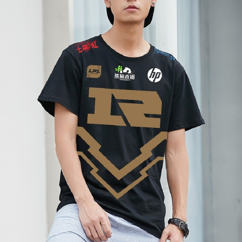 T-shirt hommes Rng Uzi t-shirts 2018 LOL mi-saison Invitational RNG Royal jamais Giveup T-shirt Homme
