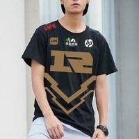 T shirt Men Rng Uzi T shirts 2018 LOL Mid Season Invitational RNG Royal Never Giveup Tee Shirt Homme