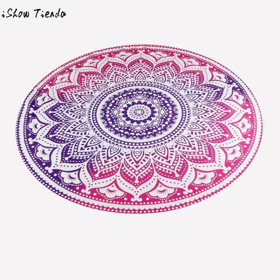 1 PC Round Beach Pool Home Camping Shower Polyester Towel Blanket Table Cloth Yoga Mat Toalla Playa