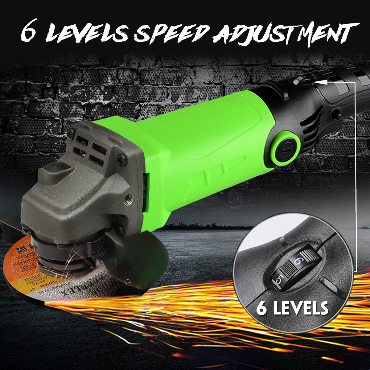 1Pcs 220V Multipurpose Angle Grinder 6 Levels Speed Adjustable Polishing Machine Grinding Drilling Tools