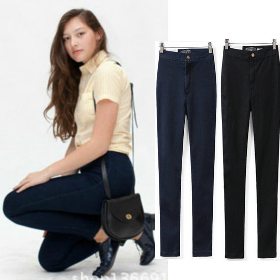 2018 New Fashion Womens Casual Skinny High Waist Jeans XS-XL Lady Sexy Stretchable Denim Pencil Pants Slim fit Easy Trousers 2017 new fashion jeans women pencil pants high waist jeans sexy slim elastic skinny pants trousers fit lady jeans plus size