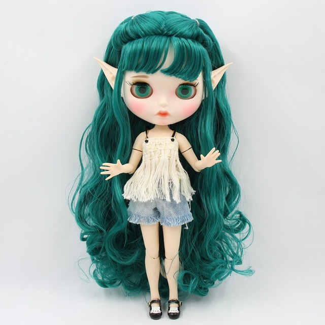 ICY Neo Blythe Doll Green Hair Jointed Body 30cm