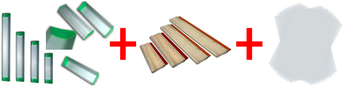 4pcs squeegee, 4pcs scoop coater, 100sheets A4 transparent film and 12yards mesh screen printing