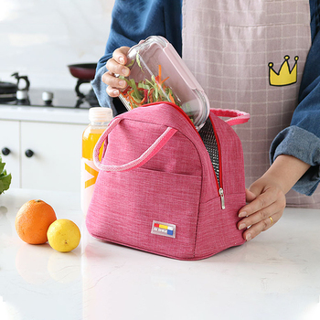 Insulated Lunch Bags Oxford Unisex Travel Picnic Bento Pouch Thermal Fresh Keeping Food Box Drink Storage Handbag Accessories 2 layers family cooler bags thermal iced drink lunch box picnic food storage shoulder handbag pouch accessories supplies product