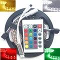 DC 12V 24V RGB LED Strip Waterproof 5050 tape Lighting 300 leds 5m IP65 flexible fita stripe tiras cold / warm white free shippi