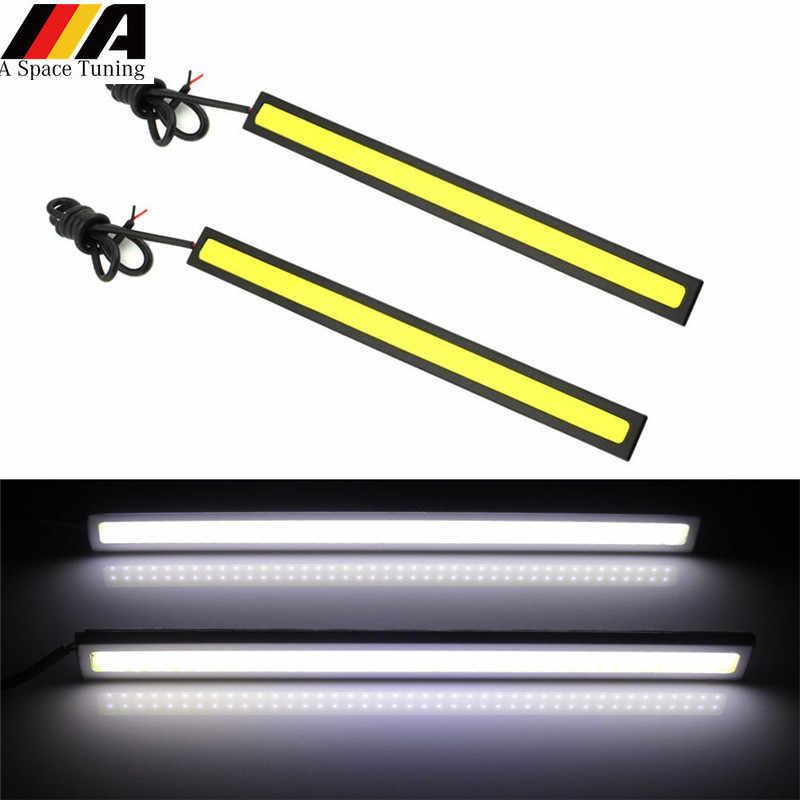2pcs Universal 12V Super Bright COB White LED Daytime Running Light Driving Lamp For VW Toyota Audi Suzuki Ford BMW Benz Opel