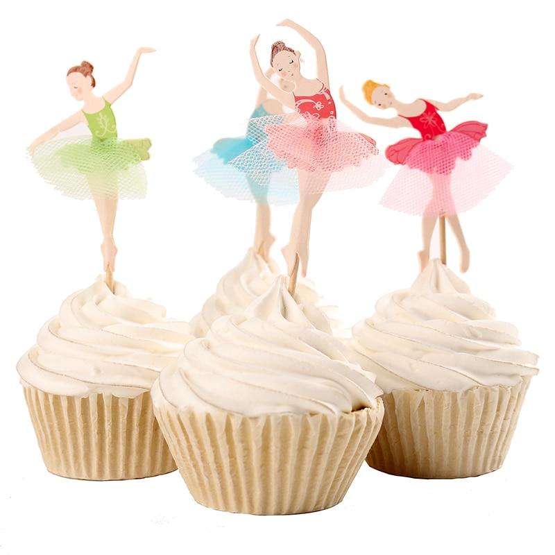 Aliexpress.com : Buy Graceful Ballerina Cupcake Topper ...