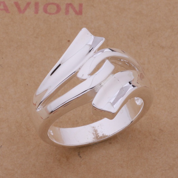 AR225 Hot Selling silver plated finger Rings for women men silver - Mote smykker - Bilde 2