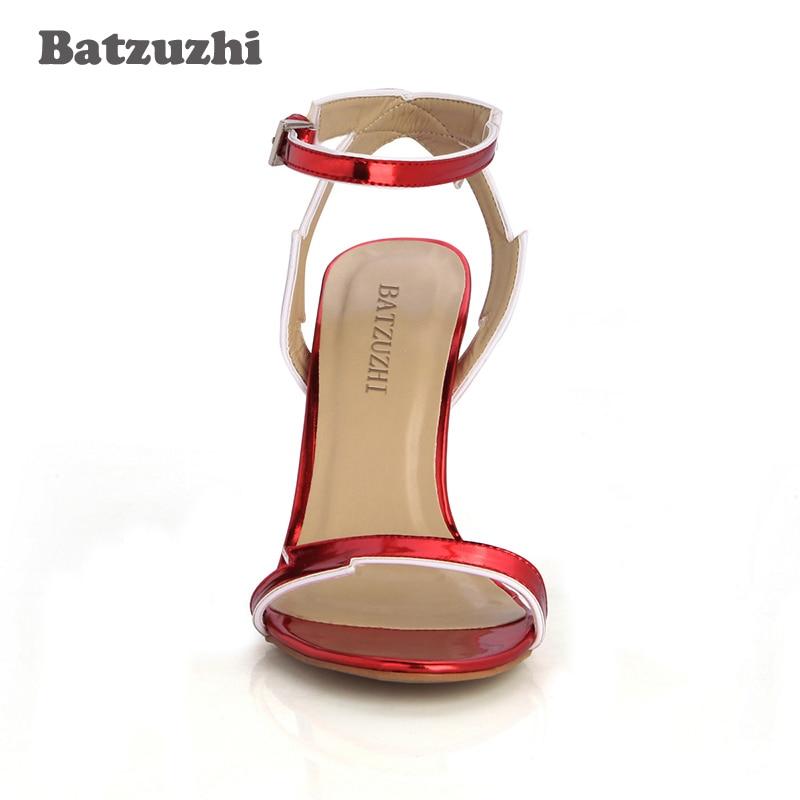 Femmes Ouvert Boucle Courroie Talons À Vin De Haut D'été Batzuzhi Sandale Mariage Chaussures Rouge Bout Sexy 43 Escarpins Sandales t74n7vBqgw