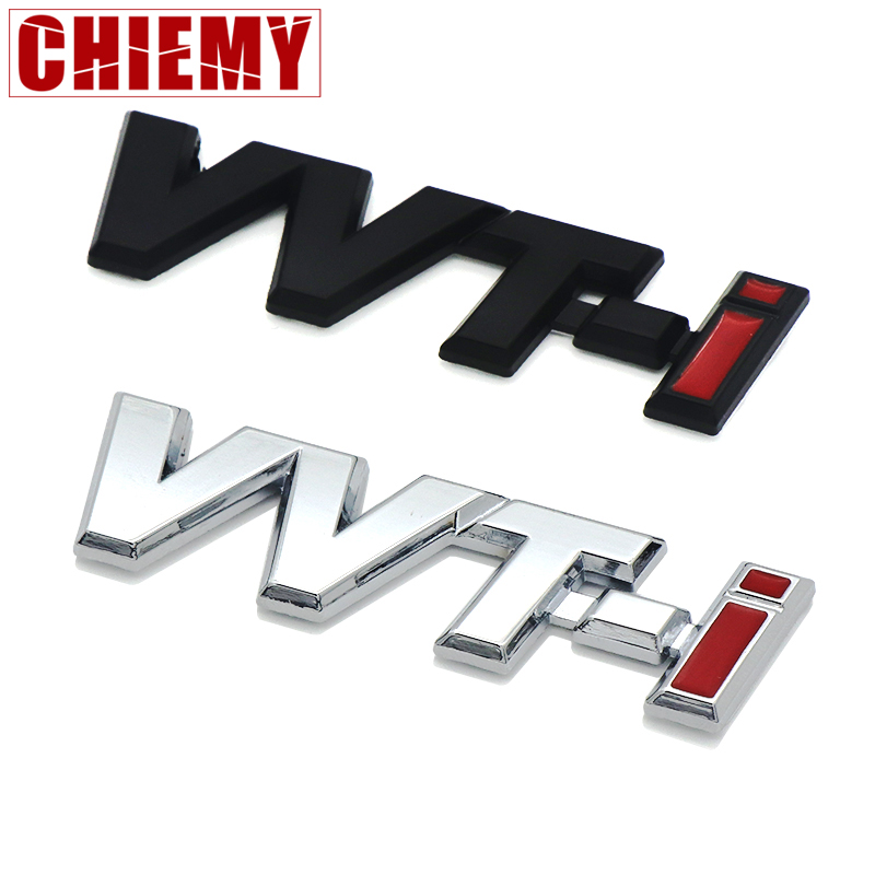 3D Metal VVTI VVT-I Emblem Badge Car Body Sticker For Car Styling Toyota Corolla 2008 Car Boot Fender Emblem Car Accessories