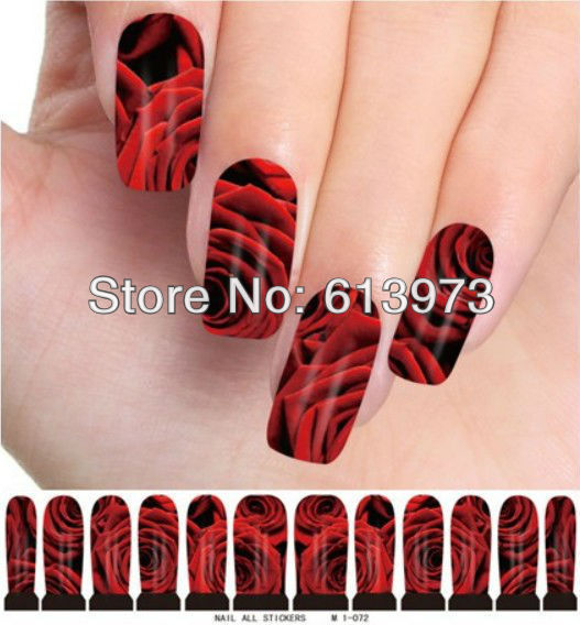10sheets/pack Nail Art Water Transfers Stickers nail tips Decals M1-072