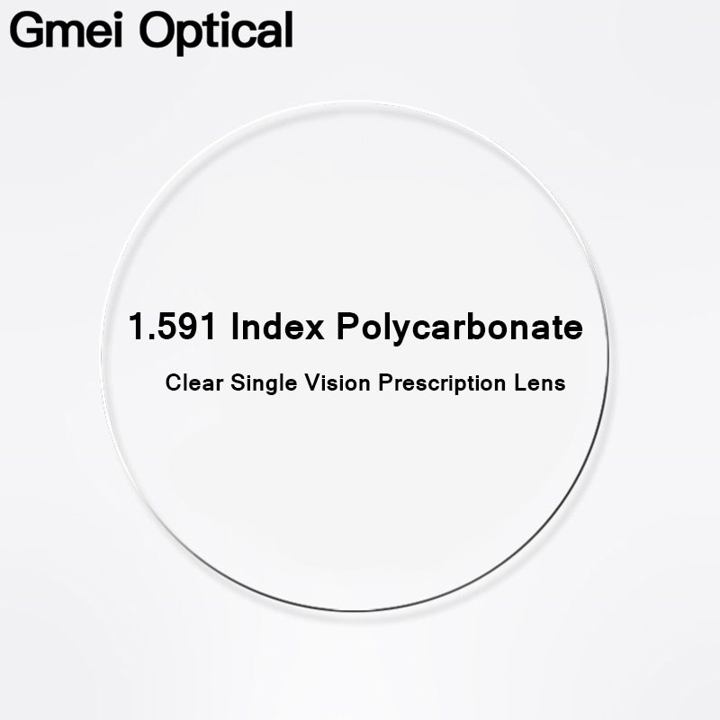 Gmei Optical 1.591 Index PC Polycarbonate Unbreakable Prescription Lenses Myopia Impact Resistance Lenses Hyperopia Anti UV Lens-in Eyewear Accessories from Apparel Accessories