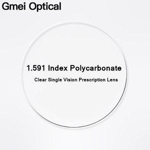 Image 1 - Gmei Optical 1.591 Index PCโพลีคาร์บอเนตแตกหักเลนส์สายตาสั้นเลนส์ทนต่อแรงกระแทกHyperopiaเลนส์Anti UV