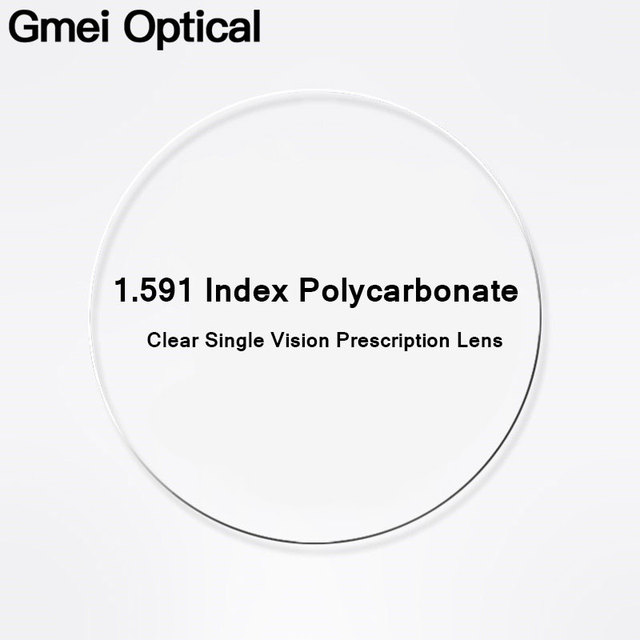 Gmei Optical 1.591 Index PCโพลีคาร์บอเนตแตกหักเลนส์สายตาสั้นเลนส์ทนต่อแรงกระแทกHyperopiaเลนส์Anti UV