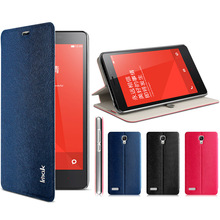 2016 New For Xiaomi Red Rice Redmi Note 5.5″ 4G Original Imak Brand Leather Flip Luxury Mobile Phone Cover Case Free Screen Film