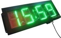 Большие размеры уличные водонепроницаемые 8 дюймов 4 цифры зеленый цвет часов и минут привело часы (hot4 8g)