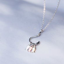 Silver Three Little Fish Pendant Originality Necklaces 925 Lucky Hook For Women Fashion Jewelry Girl Gift