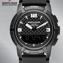 bdd15d0fce6a Reloj de los hombres en el borde norte del deporte relojes brújula  Synchronous Dual pantalla impermeable Digital de cuarzo reloj.