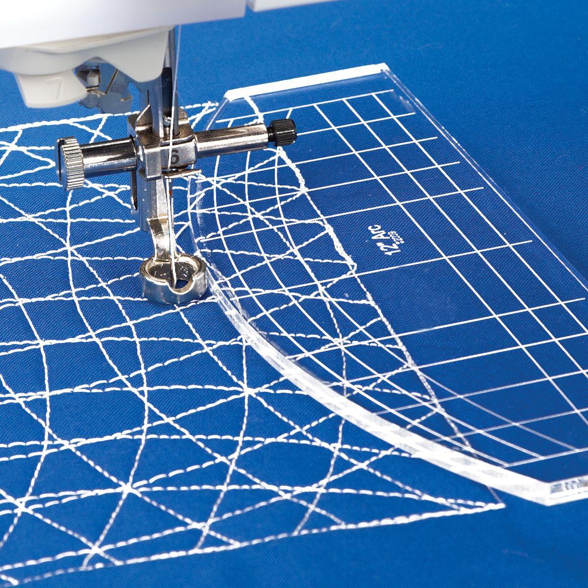 Quilting Régua Governante Modelo com baixo Shank Pé Plástico para Costura Quilting Bordado # RL-01D
